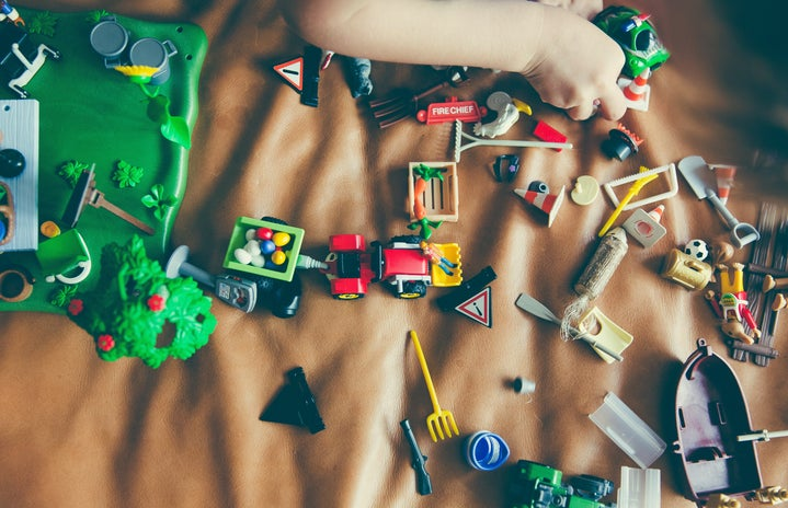 toys on child's bed
