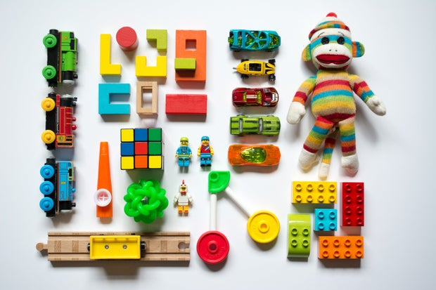 colorful children's toys