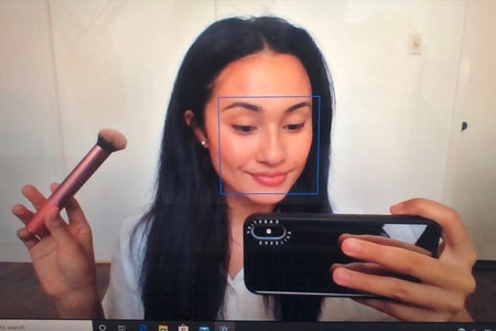 Photo of myself for makeup routine