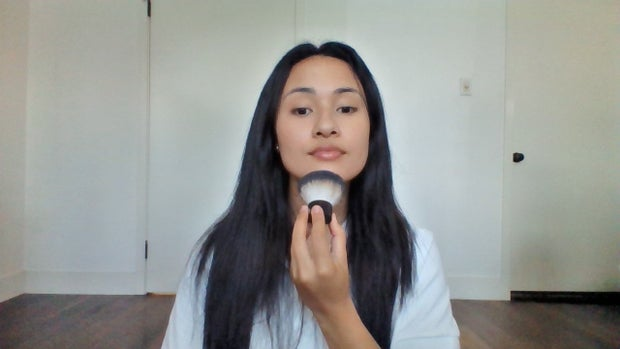 Photo of makeup routine