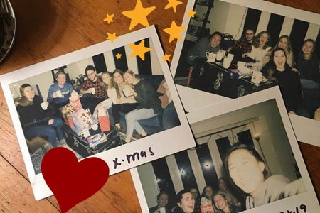 polaroid pictures of friends