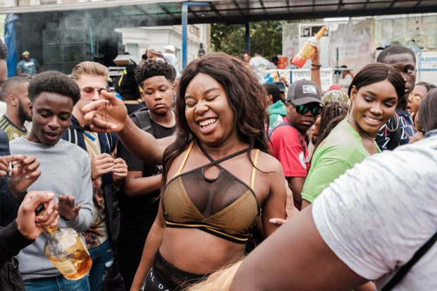 people at Notting Hill Carnival in London