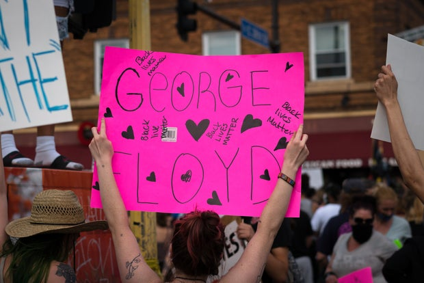 Black Lives Matter George Floyd sign