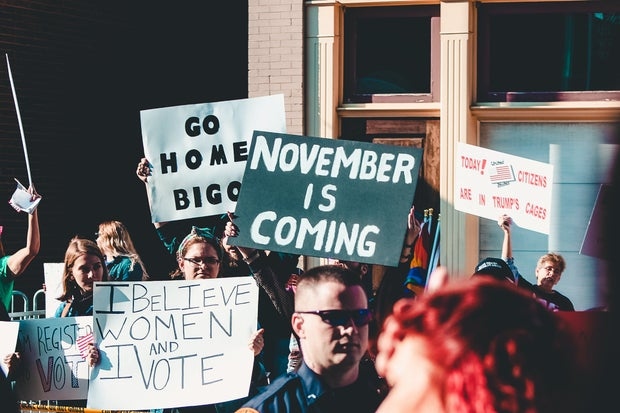 November is coming protest signs