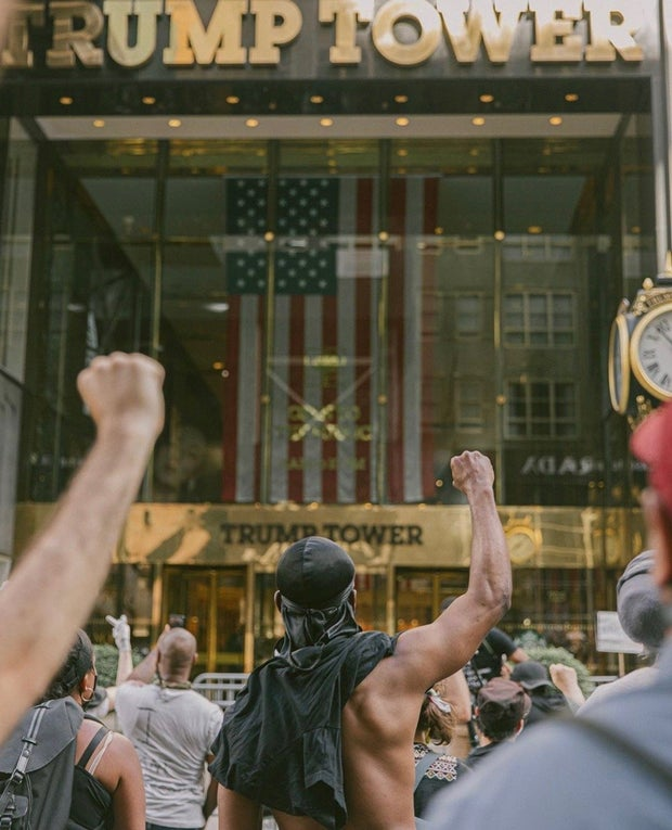 BLM protest at Trump Tower