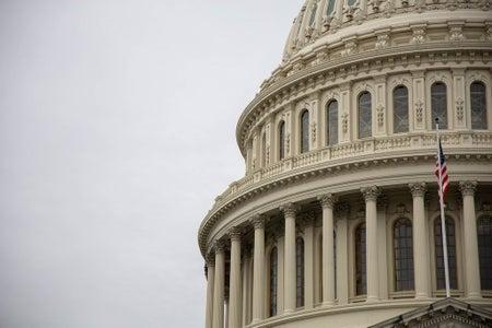 The United States Capitol Rotunda in Washington DC