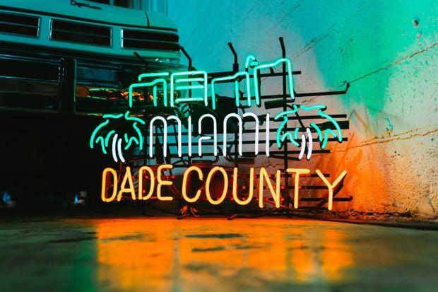 Miami-Dade neon sign