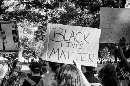 black lives matter protest signs