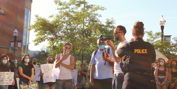 Black lives matter peaceful protest