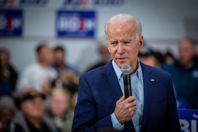Joe Biden talks with voters