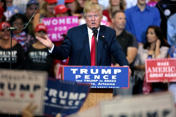 donald trump speaking at a rally