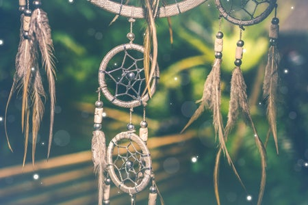 dream catchers with greenery