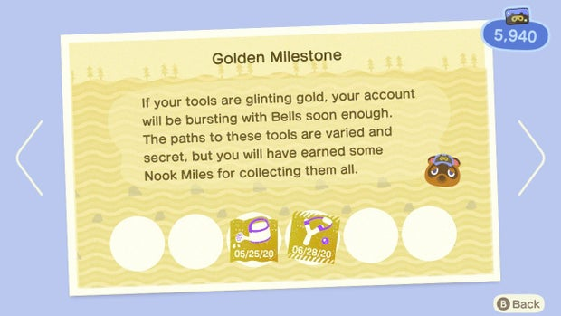 Animal Crossing Gold tools