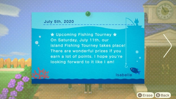 Animal crossing events