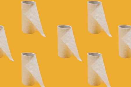 white tissue toilet paper roll
