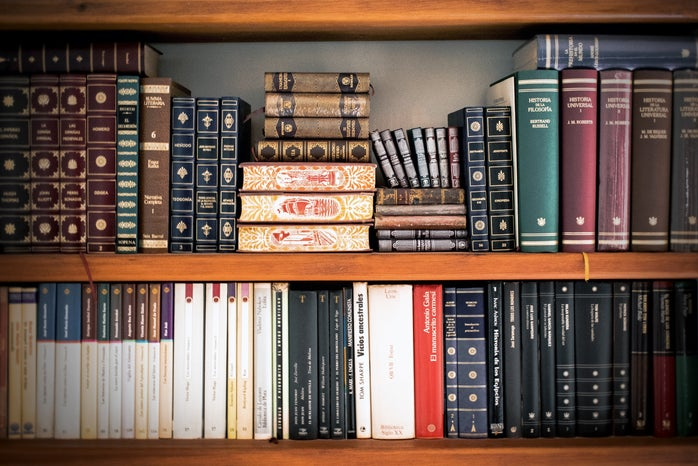 bookshelf filled with books