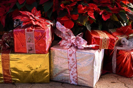 assorted wrapped presents