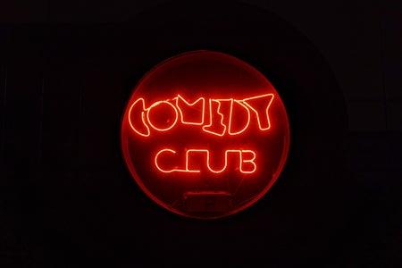 neon Comedy Club sign