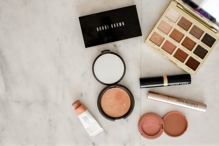 Bobbi Brown make-up on a marble table