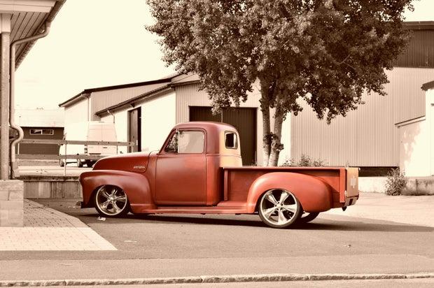 vintage Red Truck