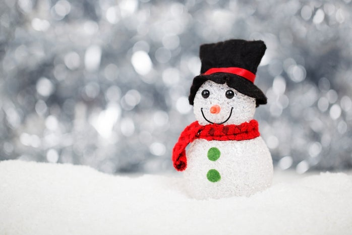 White Red and Black Snowman