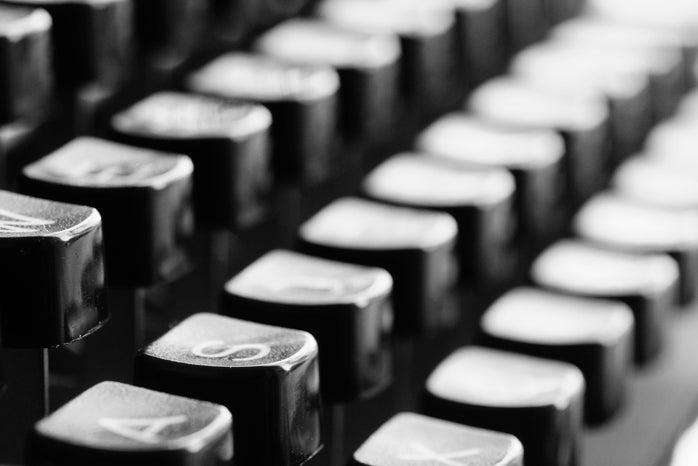 macro shot of black keyboard