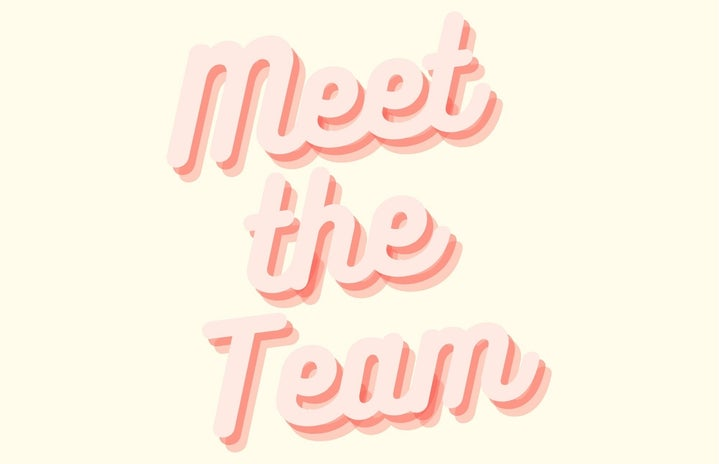 Graphic saying meet the team