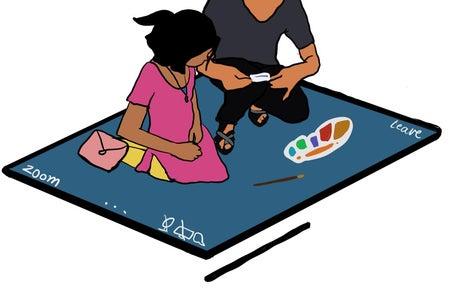 Online classes for underprivileged children
