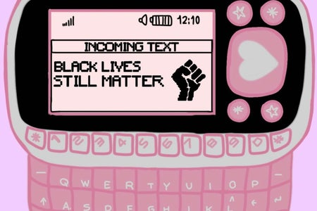 phone with black lives still matter text