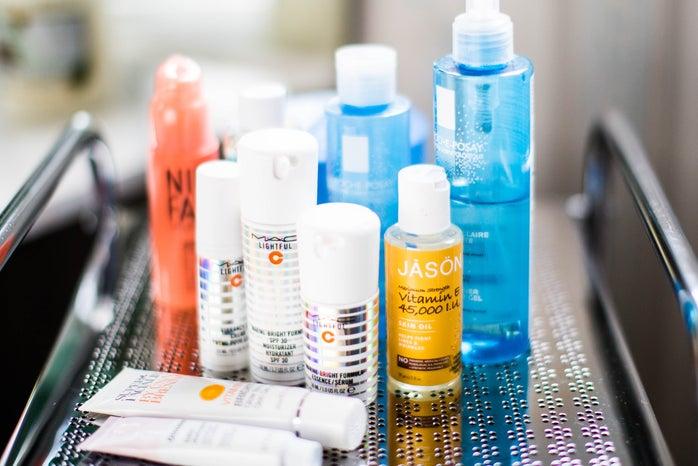 assorted-color fragrance bottle photo