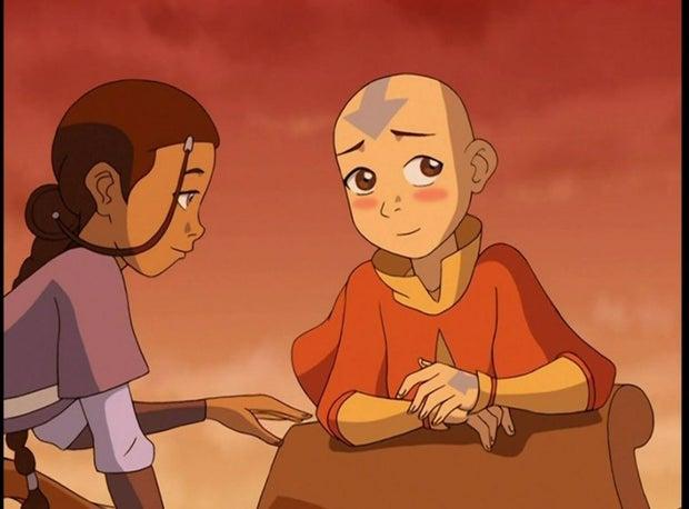 Aang and Katara from Avatar the Last Airbender