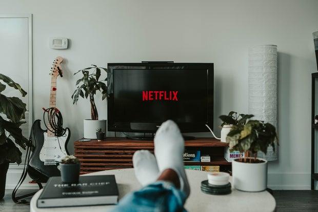 Girl watching Netflix
