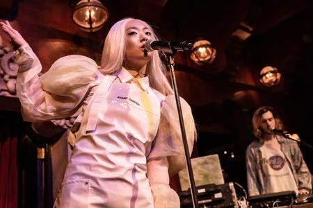 Rina Sawayama performing at School Night