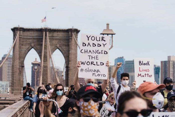 Protestors for the Black Lives Matter Movement