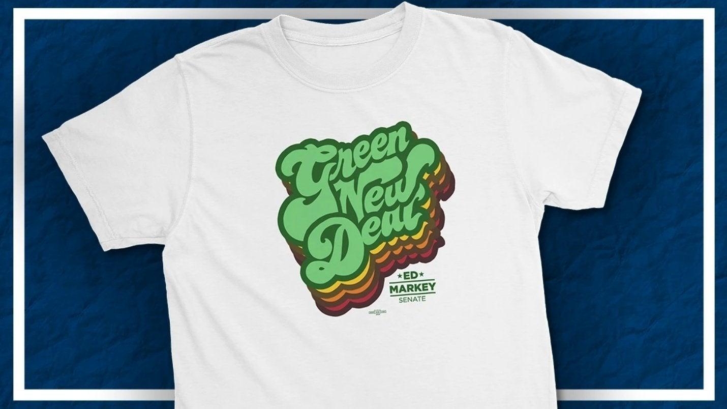 Green New Deal graphic shirt