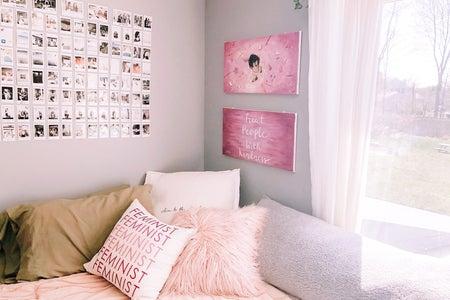 interior design of pink bedroom