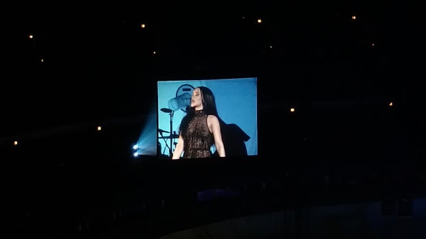 Rihanna performing at the United Center in Chicago, April 26th 2016