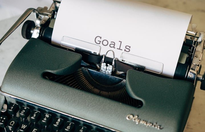 """Typewriter with word \""""goals\"""" on it"""