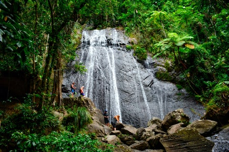 waterfall in El Yunque National Forest in Puerto Rico