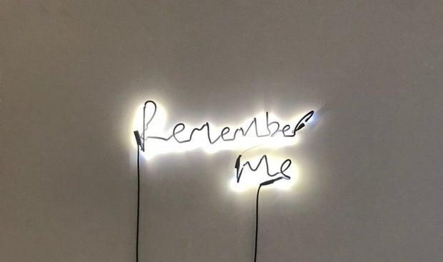 light installation from art exhibit