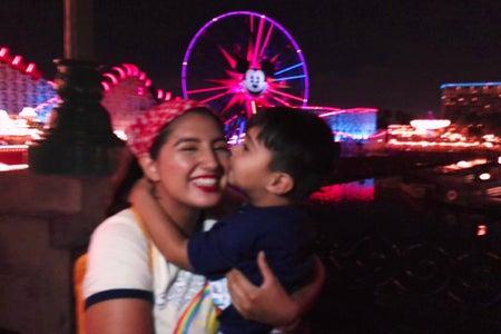 kid and girl at Disneyland