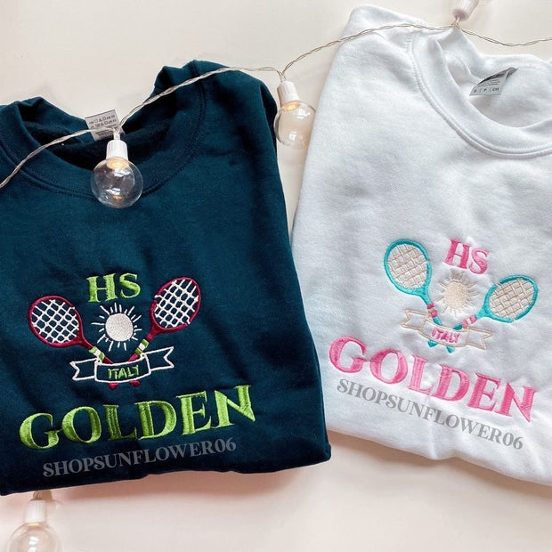 Golden Tennis Crewnecks