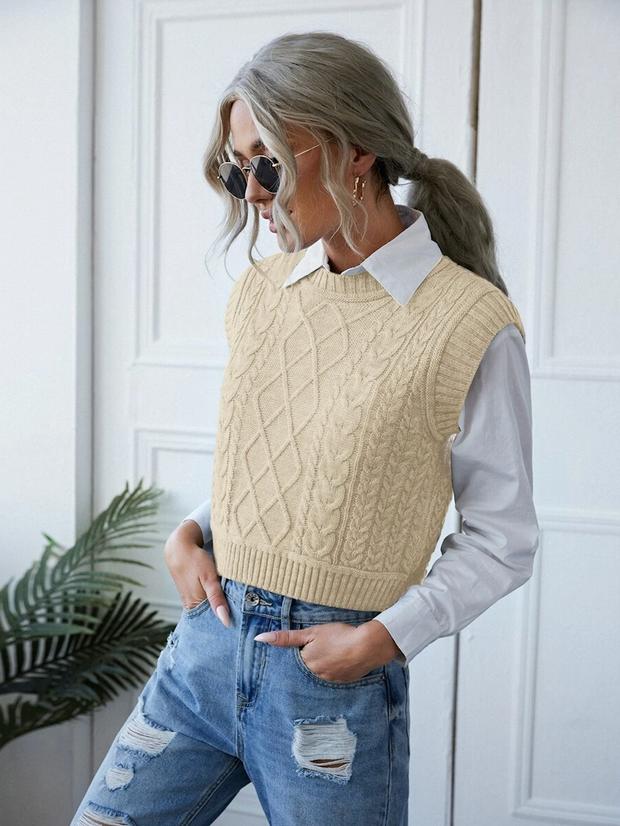 model wearing vest