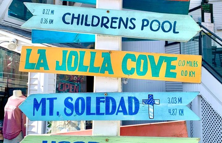 Cover Image: La Jolla Cove signs