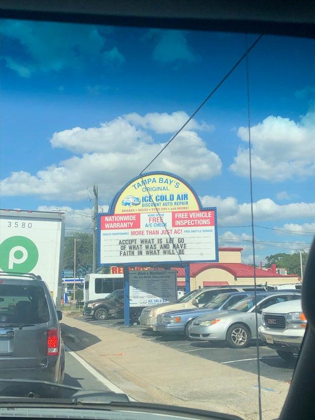 Tampa Bay Auto Repair sign