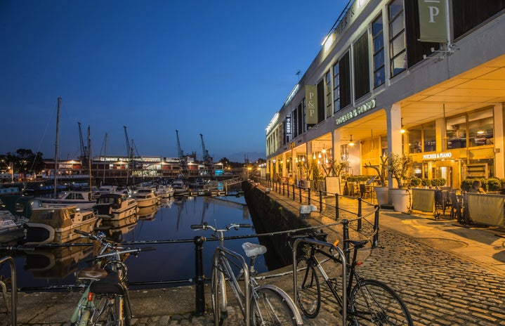 Bristol Harbourside by Night beautiful river avon Bristol town centre bristol uk