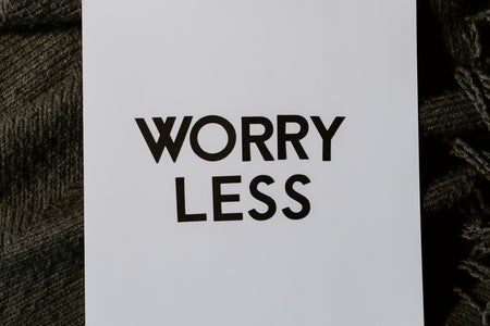 Worry Less text flatlay