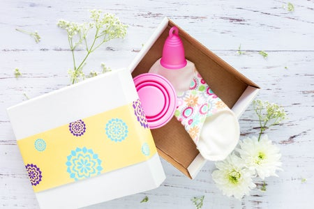 box of sustainable period products