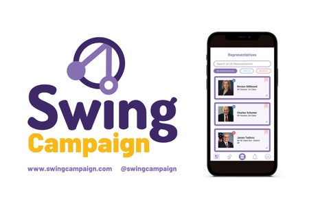 Promotional picture of a new app called Swing Campaign