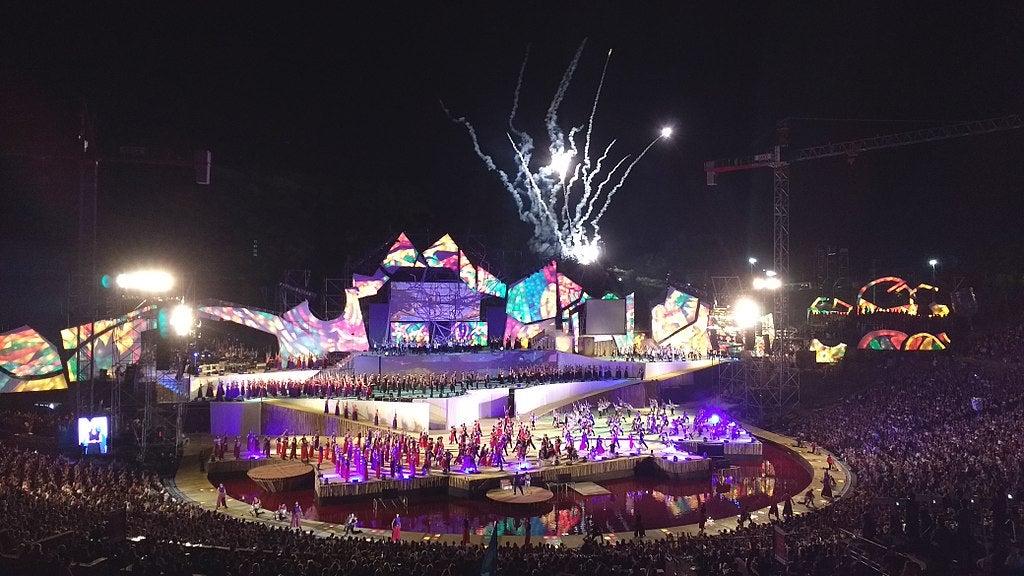 Traditional Fiesta de la Vendimia festival in Argentina